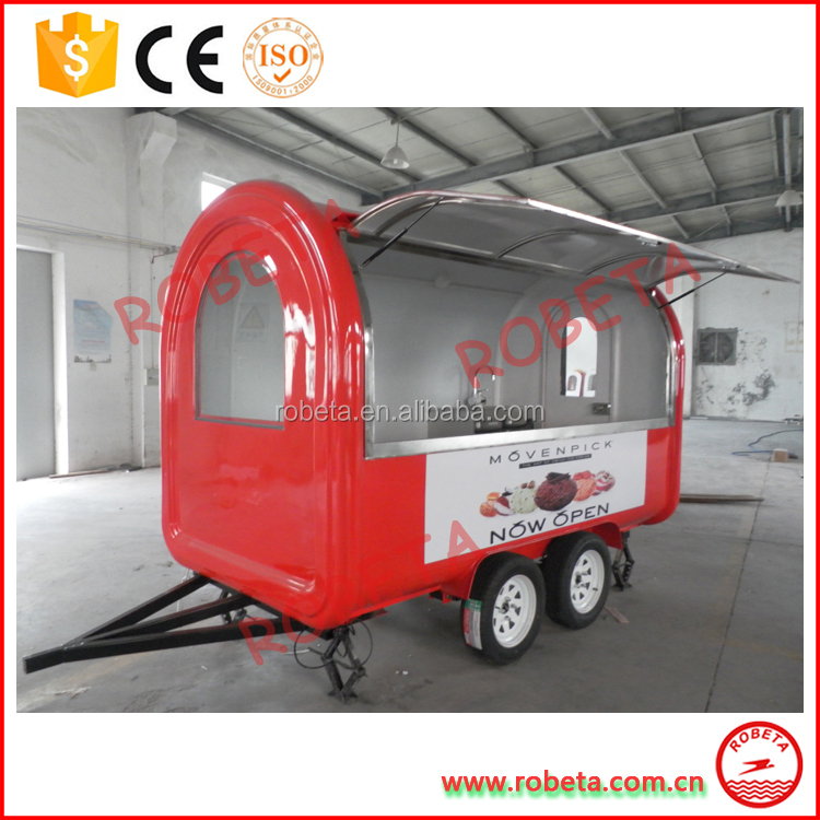 OEM offered quality guarantee food cooking food truck equipment mobile restaurant in low price American