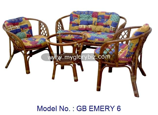 Rattan Sofa Set, Living Room Furniture, Modern Furniture, Loveseat Sofa Set, Indoor Rattan For Living Room Furniture