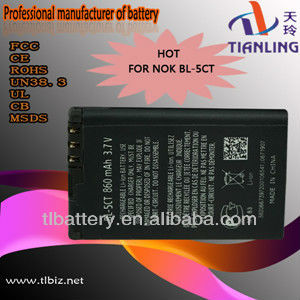3.7v 1050mah Bl-5ct Battery For Nokia 5220xm 5220 6303c 7630c