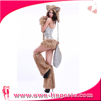 wholesale mascot costume with fake feathers,sexy women cosply animal Feathers costume