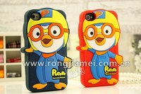 2012 Novetly factory directly produce silicone protective pororo 3D moblie phone case for Iphone 4S