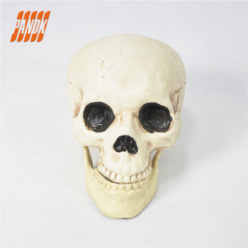 HALLOWEEN DECORATION PLASTIC SKULL HALLOWEEN PROPS SKELETON REAL SIZE 1:1 BODAY PARTY HALLOWEEN OUTDOOR SCARY HAUNTED HOUSE
