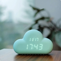 promotional cheap silicone gift alarm clock with VOX function
