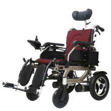 lithium battery powered lightweight foldable electric wheelchair