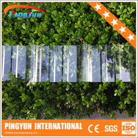 polycarbonate skylight roofing/PC plastic sheet/UV coated corrugated roof sheet