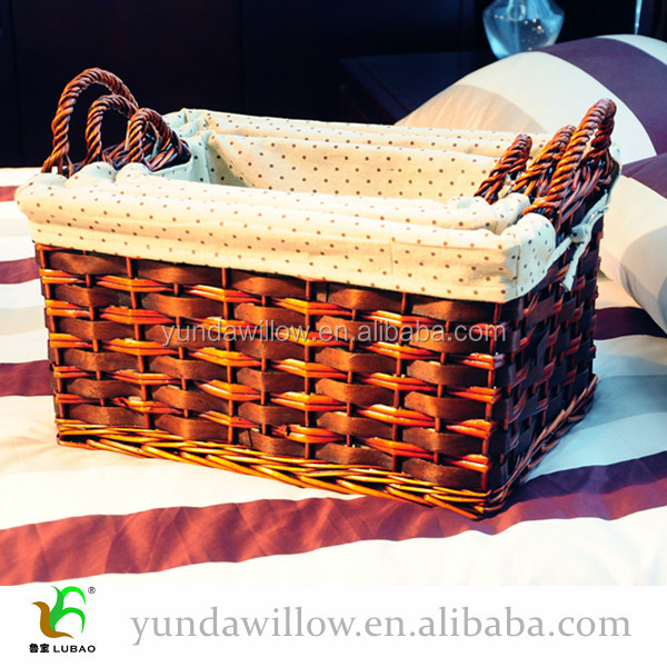 Fancy Willow Gift Basket Wicker Set With Handle