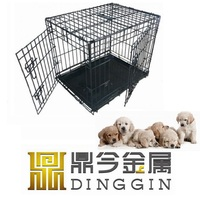 Wire Mesh Pet kennel with ABS Tray