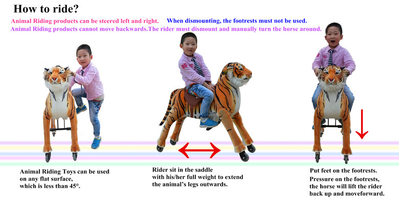 (EN71&ASTM&CE)~(Pass!!)~Dalian Magicprince Plush human power ride on animal toy Animal scooter Donkey in mall,