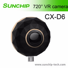 Mini 720 Video Camera HD Panoramic Panorama VR Camera 720 Degree Dual Wide Angle Fisheye Lens for Android phone