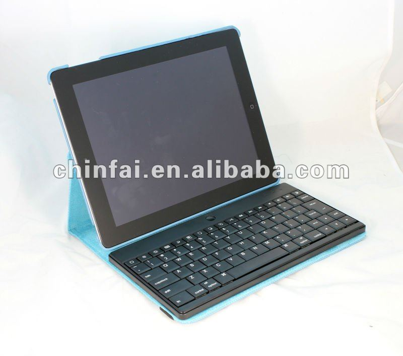 360 degree Rotary bluetooth keyboard case for iPad2/New iPad/iPad 4/iPad Air