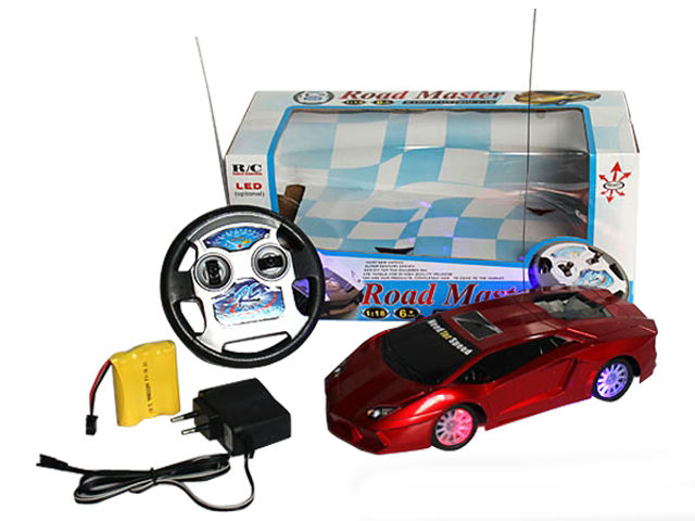 Simulational plastic 4ch rc vinyl car toys with light