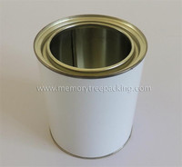 1 liter round metal tin can ,1 liter round paint can, paint tin can