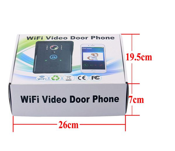 Hot sale RJ45 touch key rainproof APP wireless wifi video door phone TS-IWP708 with function of motion detection & unlocking