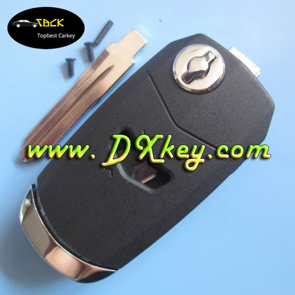 Shock price flip key case for 1 button Fiat key (black) GT15R blade fiat 500 key replacement