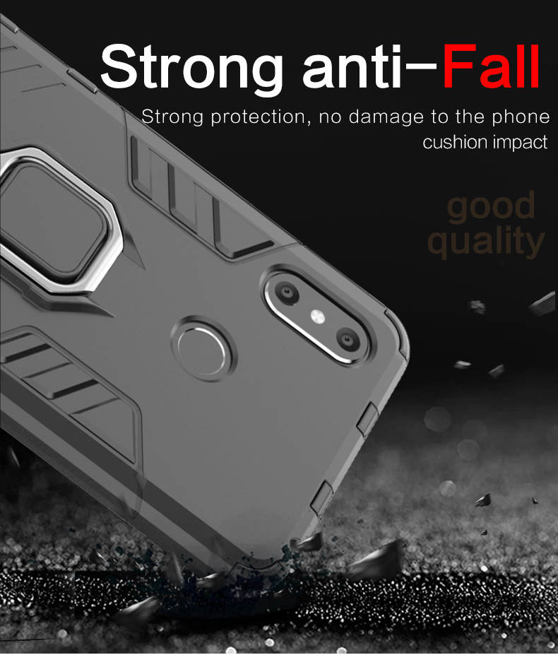 TPU PC finger ring holder mobile phone back cover case for xiaomi mi max 3,cell phone case for mi max 3