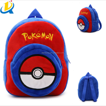 2016 wholesale cheap plush pokemon school bag for kids