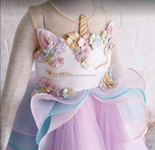 Zhihao new arrival hot sale tulle unicorn dress princess party baby girls dress