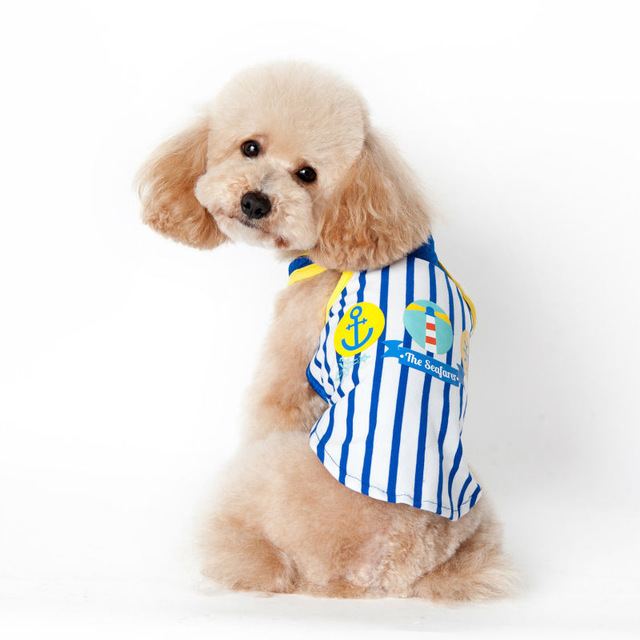 2018 New Pet Apparel Dog Cooling Vest Wholesale Clothing Good Partners Striped Vest