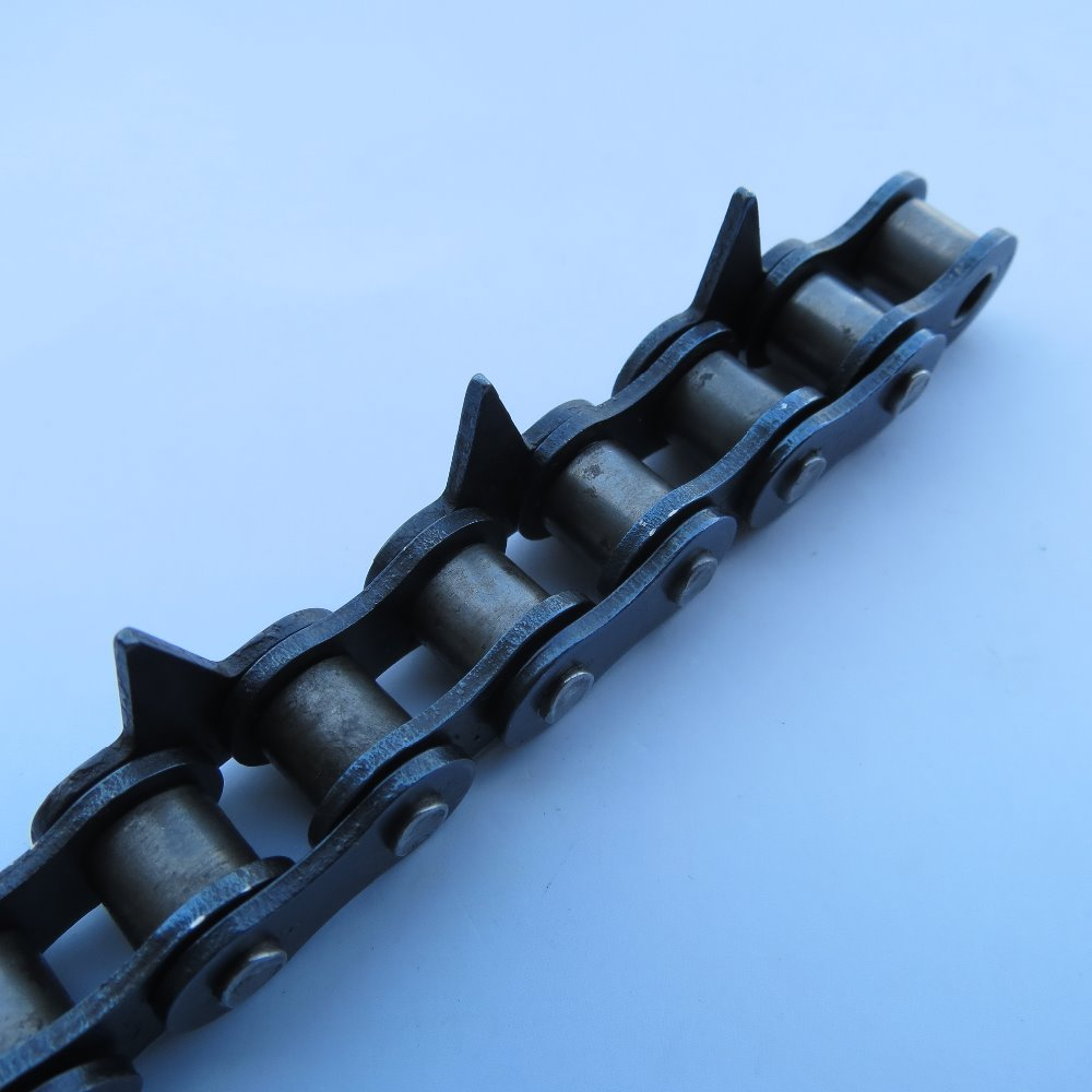 08B China manufacturer 40mn alloy steel OEM service single side tooth attachment precise quick start hardened chain