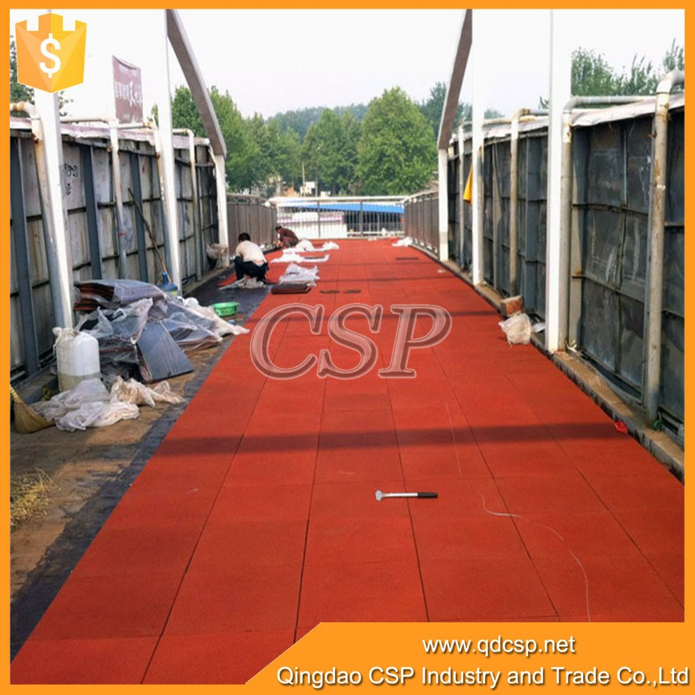 Elastic prevent slippery safety rubber floorground mat from china manuture