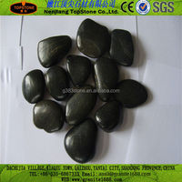 Natural pebble stone paver/black pebbles