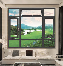 Italy 70 thermal break casement aluminum window for guest room with fly mesh outside