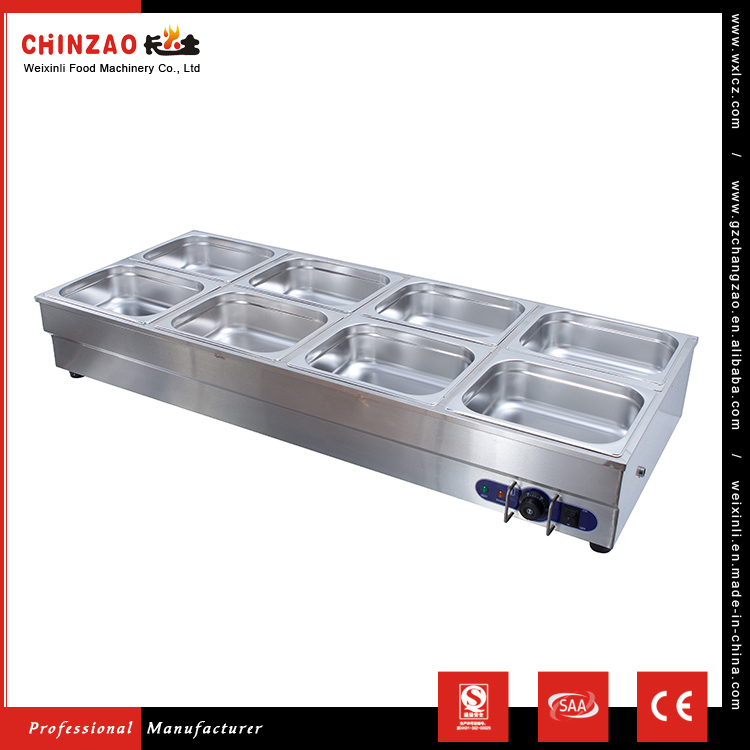 CHINZAO China Factory Direct Sale Stainless Steel Bain Marie Cooking Equipment For Food Heater