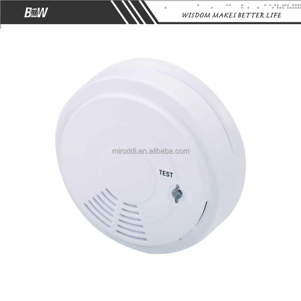 Smart Home Fire Alarm Sensor Wireless AC 9V Battery Operated Photoelectric Smoke Detector