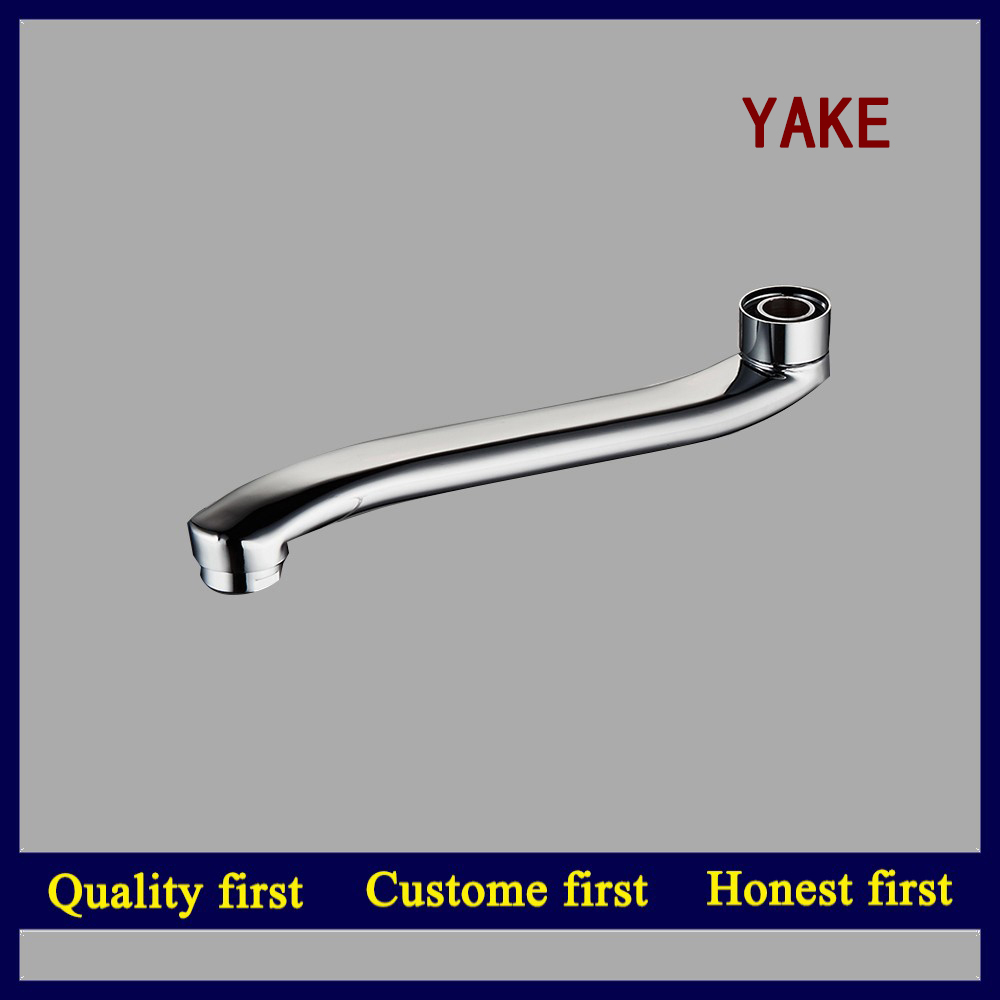 hot sale faucet spout with 24*1 aerator brass nut brass core kitchen faucet pipe