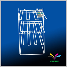 OEM design Metal Wire counter hanging keychain display rack