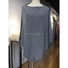shawl collar knitted wholesale cashmere poncho