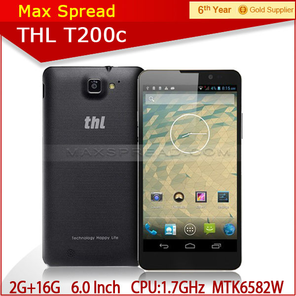 hot sale! THL T200c 6 inch 1280*720 3G Smart phone MTK6592 octa core brand android phone