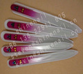 glass nail file with rhinestone
