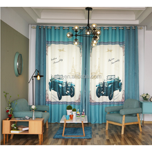 Custom Made 3D Printing Industrial Car Drapery Window Blackout Curtain