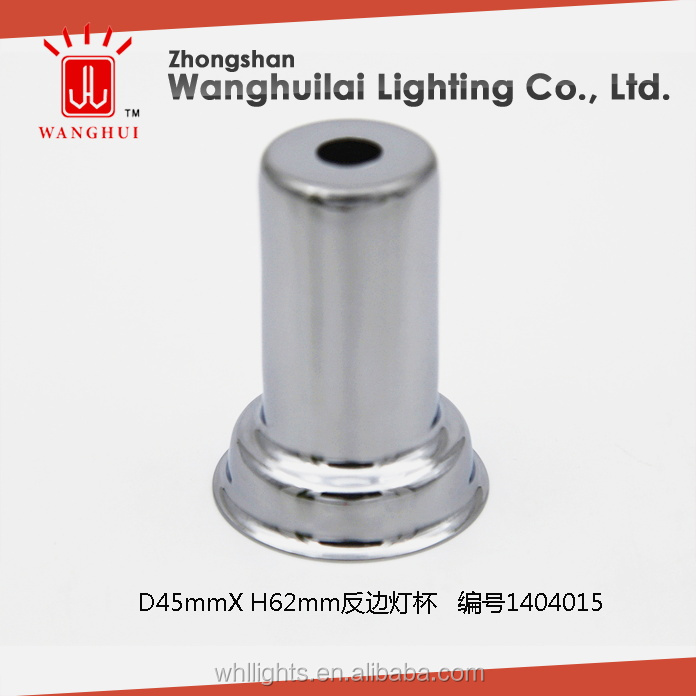 E26 E27 chrome plated light socket cover for lighting accessories
