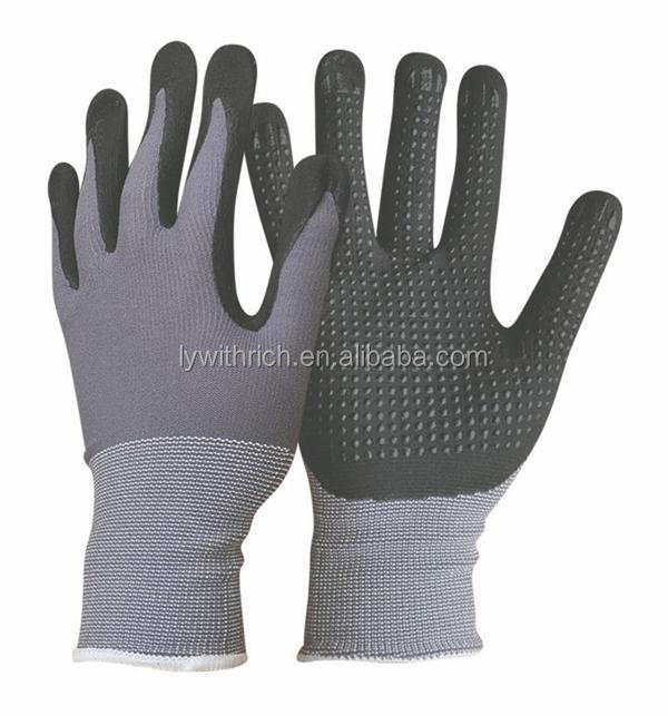 nylon gloves with nitrile coated ironing glove