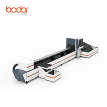 2017 hot selling pipe cutter machine, fiber laser machine cutting 6m steel tube 1000w 2000w IPG laser with electronic chuck