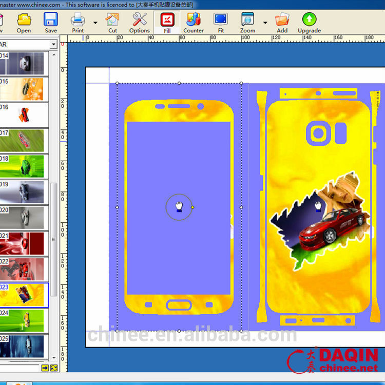 with cell phoen mobile skin cutting designing software for new business