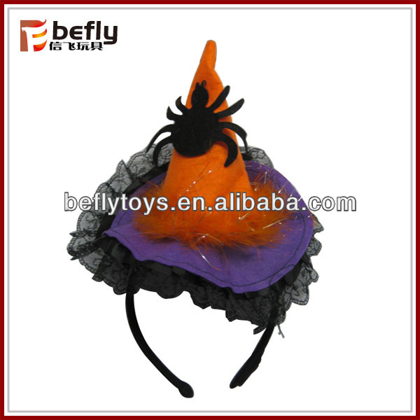 Wholesale cheap halloween witch hat headband