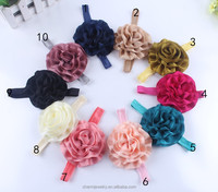 10 CM Handmade Glossy rose flower baby headband for girls +elastic hair bands+children jewelry hair accessories for kids BTS017