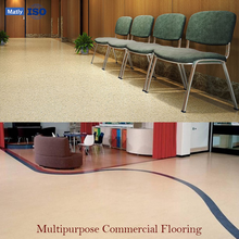 Fire Proof Recycled PVC Vinyl Flooring in Rolls