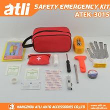 Good sale 14 pcs car safety roadside emergency tool kits