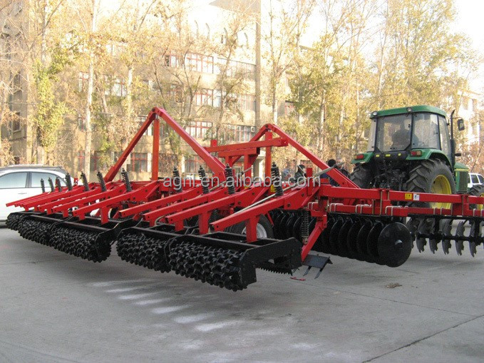 huge duty farm tractor use hydraulic combined land preparation machine with disk harrow, disk plough