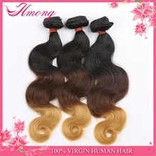 Large Stock Available Three Tone Color 1b 33 27 Ombre Hair 3 Bundles Online Sales