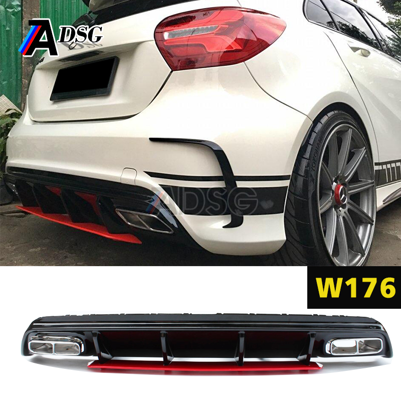 A45 Style Diffuser Exhaust For Mercedes A Class W176 Buy Diffuserdiffuser Product On Alibaba: A45 Amg Exhaust At Woreks.co