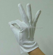 white cotton glove grip dots on palm gloves