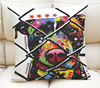 custom colorful printed dog cushion cover