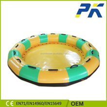 Crazy water sports inflatable games water circle/Towable inflatale donut pool for water park