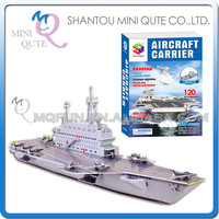 Mini Qute Aircraft Carrier building blocks 3d paper puzzle diy model cardboard jigsaw puzzle game educational toy NO.B568-13