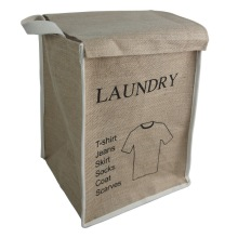Linen Fabric Storage Bin with Lid